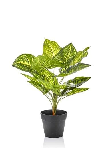 The Mia Yapay Çiçek 35 Cm Saksılı Yeşil